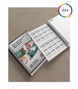 Cadernos Corporativos | Capa e contra capa personalizadas: Capa dura revestida com Papel Reciclato | 120g/m² + BOPP Fosca Frente