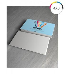 Cartões de Visita | Verniz UV Total | Frente Couché 250g 1.000 un. | 5x9 cm