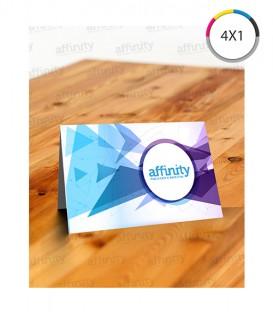 Cartões de Visita | Verniz UV Total Frente | Vinco Central | Couché 250g | 1.000 un. | 9x10 cm