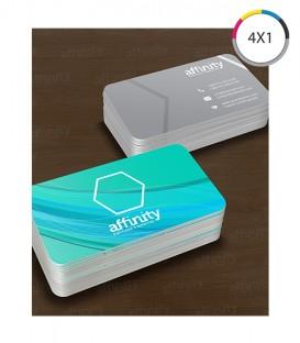 Cartões de Visita | Verniz UV Total Frente | Couché 300g | 1.000 un. | 4,8x8,8 cm