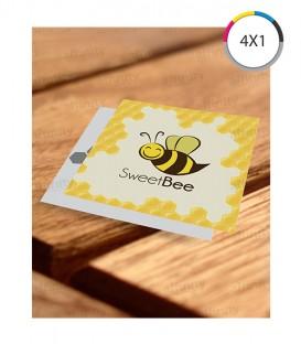 Cartões de Visita | Verniz UV Total Frente | Couché 300g | 2.000 un. | 4,4x5 cm