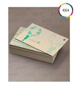 Cartões de Visita | Corte Reto Reciclato | 240g | 250 un. | 5x9 cm