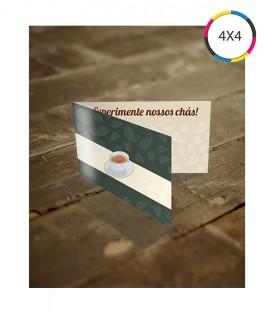 Cartões de Visita | Verniz UV Total Frente | Vinco Central | Couché 300g | 1.000 un. | 5x18 cm
