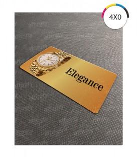 Cartões de Visita | Cantos Arredondados Dourato | 240g | 100 un. | 5x9 cm