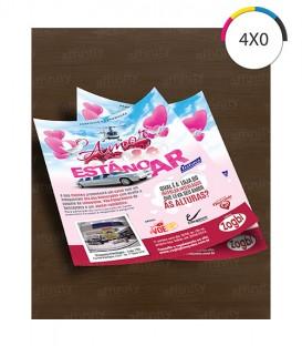 Flyers / Folhetos | Couché 115g | 2.500 un. | 10x15 cm