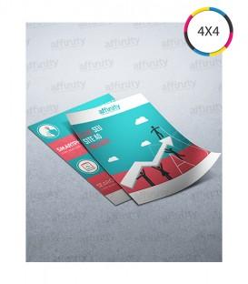 Mini Flyer | Couché 150g | 2.500 un. | 7,5x10 cm