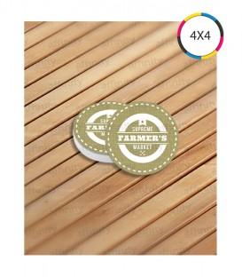 Porta Copo | Verniz UV Total Frente | Couché 300g | 1.000 un. | 8,35x8,35 cm