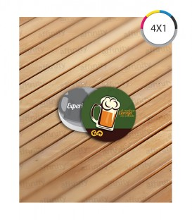 Porta Copo | Verniz UV Total Frente | Couché 250g | 1.000 un. | 8,35x8,35 cm