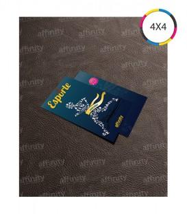 Tags | Corte Reto (1 Furo) | Couché 300g | Verniz UV Total Frente | 1.000 un. | 5x9 cm