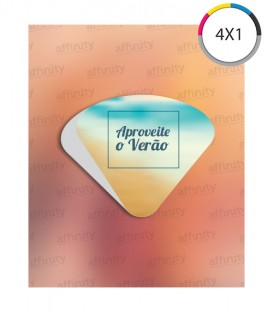 Ventarola | Corte e Vinco | Couché 300g | Verniz UV Total Frente | 1.000 un. | 19x22 cm