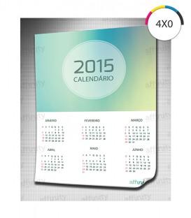 Calendários Parede | Verniz Brilho Total Frente | Frente Couché 300g | 500 un. | 15x20 cm