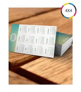 Calendários Bolso | Verniz Total Brilho Frente | Frente Couché 300g | 1.000 un. | 6,5x9,5 cm