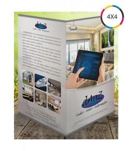 Folders 1 Dobra | 10x15 cm Fechado | 15x20 cm Aberto | Couché 115g | 2.500 un. | 15x20 Aberto cm