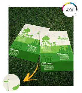 Folders 1 Dobra | 10x15 cm Fechado | 15x20 cm Aberto | Reciclato 90g |100 un. | 15x20 Aberto