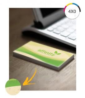 Cartões de Visita |  Corte Reto | Reciclato 240g | 250 un. | 5x9 cm
