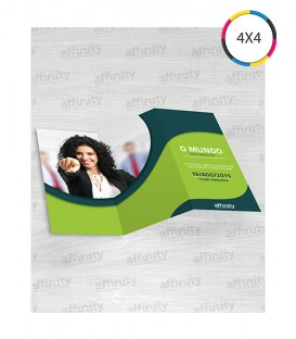 Folders 2 Dobras | 10x20 cm Fechado | 20x30 cm Aberto | Couché 115g | 2.500 un.