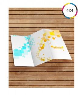 Folders 2 Dobras | 10x20 cm Fechado | 20x30 cm aberto | Couché 150g | 1.250 un.