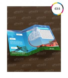 Folders 2 Dobras | 10x20 cm Fechado | 20x30 cm Aberto | Couché 150g | 1.250 un