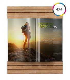 Revistas / Catálogos | 8 páginas | Capa e Miolo Couché 90g | Fechado 10x14 | Aberto 14x20 | 5.000 un. | 10x14 cm