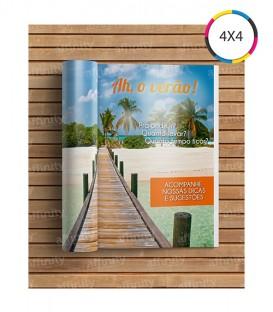 Revistas / Catálogos | 8 páginas | Capa e Miolo Couché 115g | Fechado 10x15 | Aberto 15x20 | 2.500 un. |10x15 cm