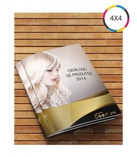 Revistas / Catálogos | 8 páginas | Capa e Miolo Couché 150g | Fechado 10x15 | Aberto 15x20 | 1.250 un. | 10x15 cm
