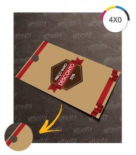 Tags | Corte Reto (1 Furo) | Couché 250g | Verniz UV Total Frente | 1.000 un. | 5x9 cm