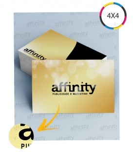 Cartões de Visita | Corte Reto Dourato | 240g | 100 un. | 5x9 cm